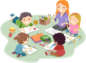 Kids coloring and drawing